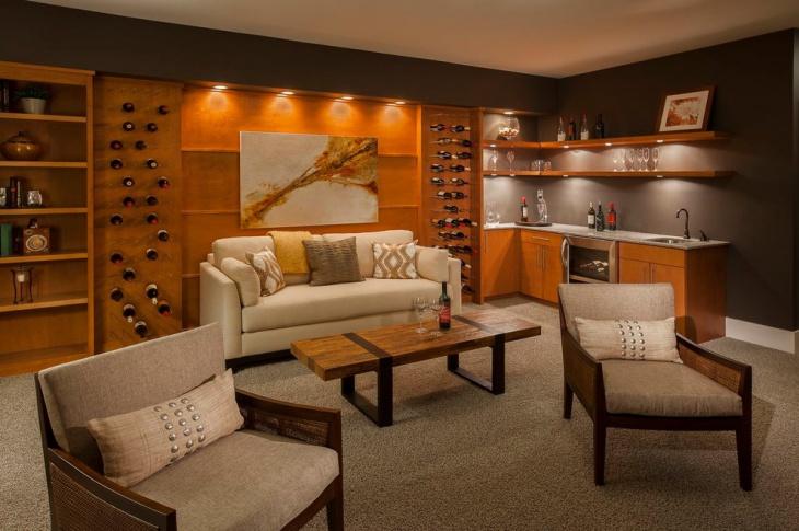 luxury rustic home bar design