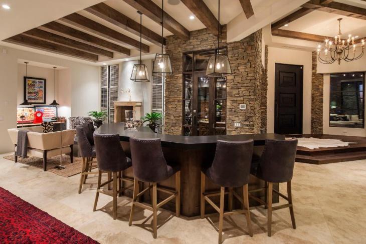 rustic home bar designs