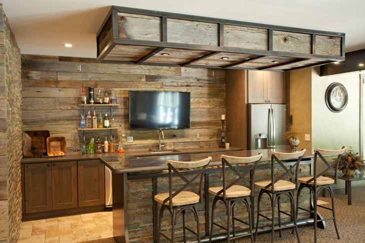 17 rustic home bar designs ideas design trends. Black Bedroom Furniture Sets. Home Design Ideas