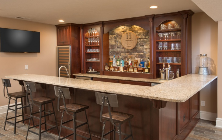 Home Design Ideas Photo Gallery: 17+ Rustic Home Bar Designs, Ideas