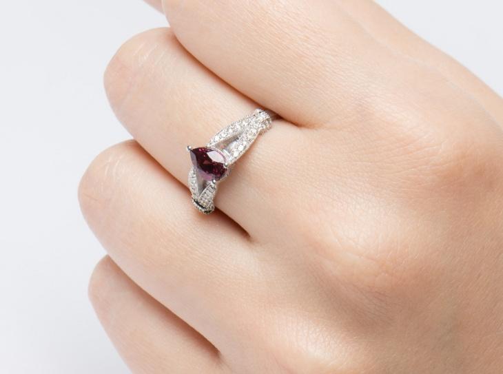 delicate diamond engagement ring