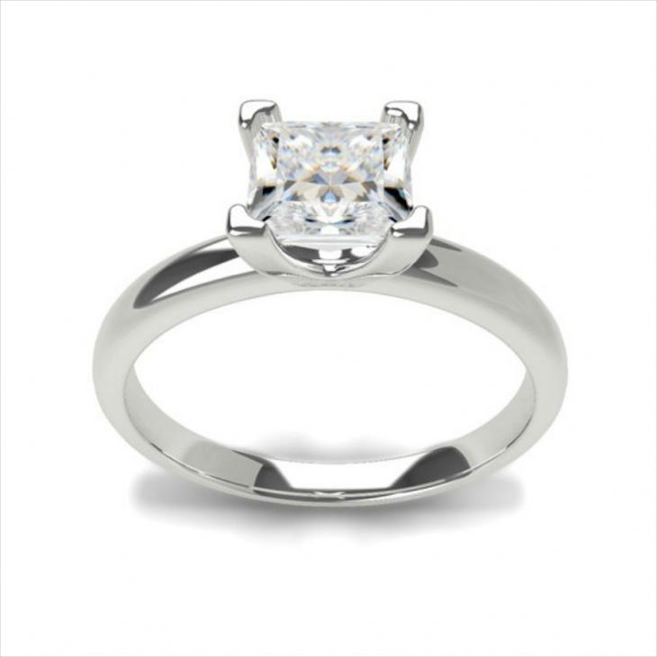platinum delicate engagement ring