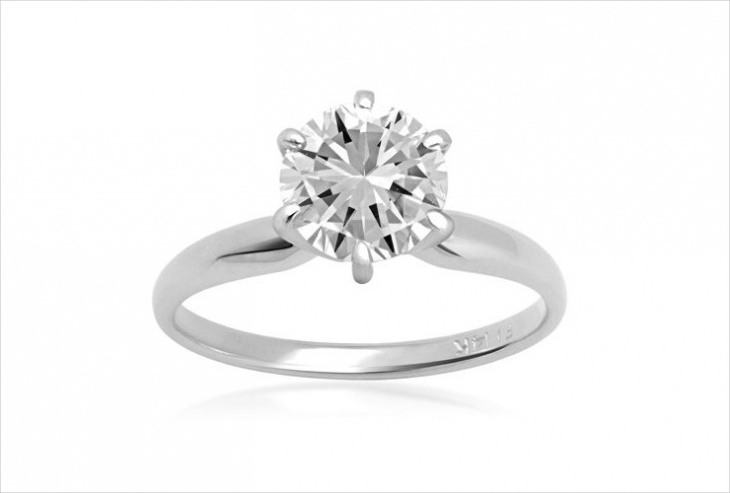 White Gold Delicate Engagement Ring