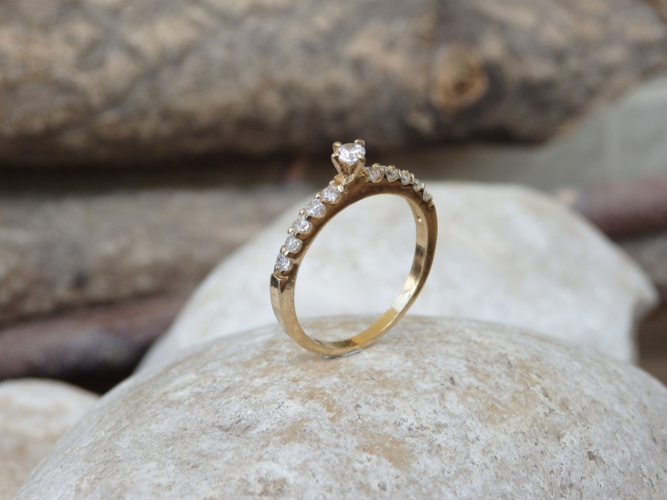 simple delicate engagement ring