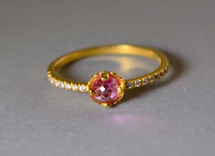 Gold Delicate Engagement Ring