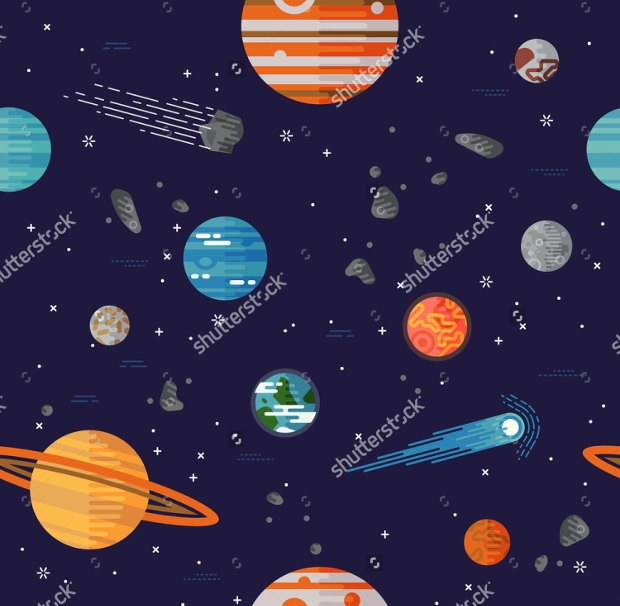 Cool Galaxy Seamless Pattern