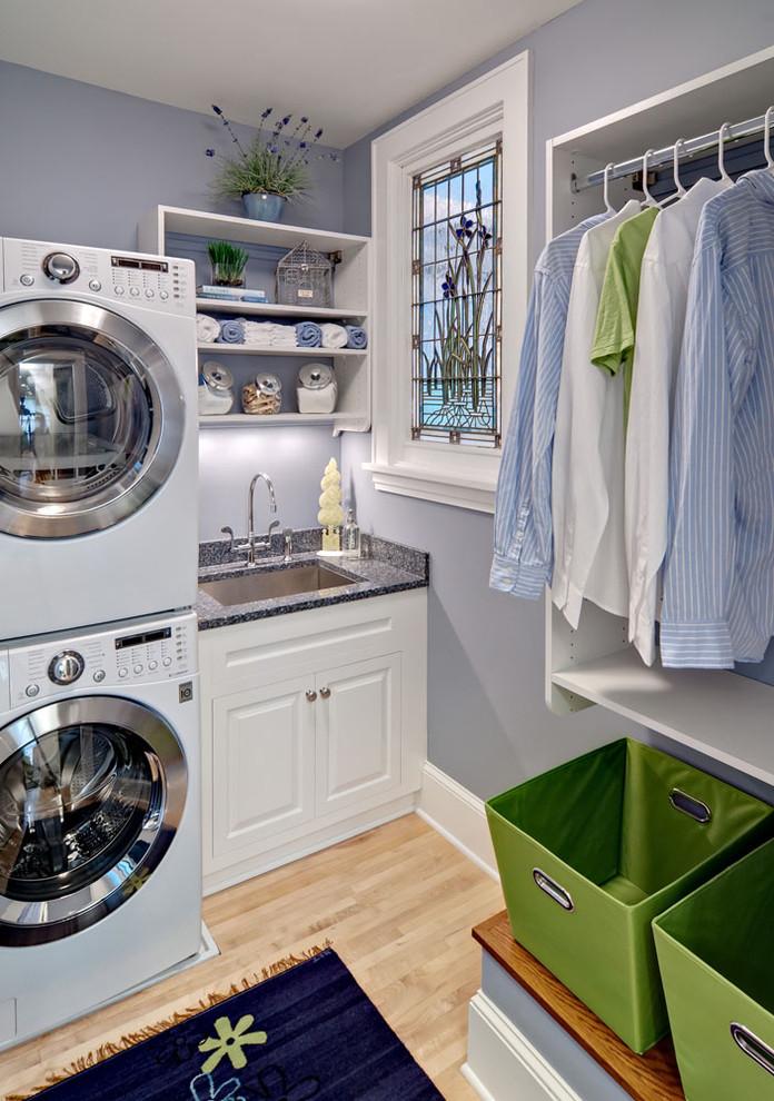 small laundry room shelving idea