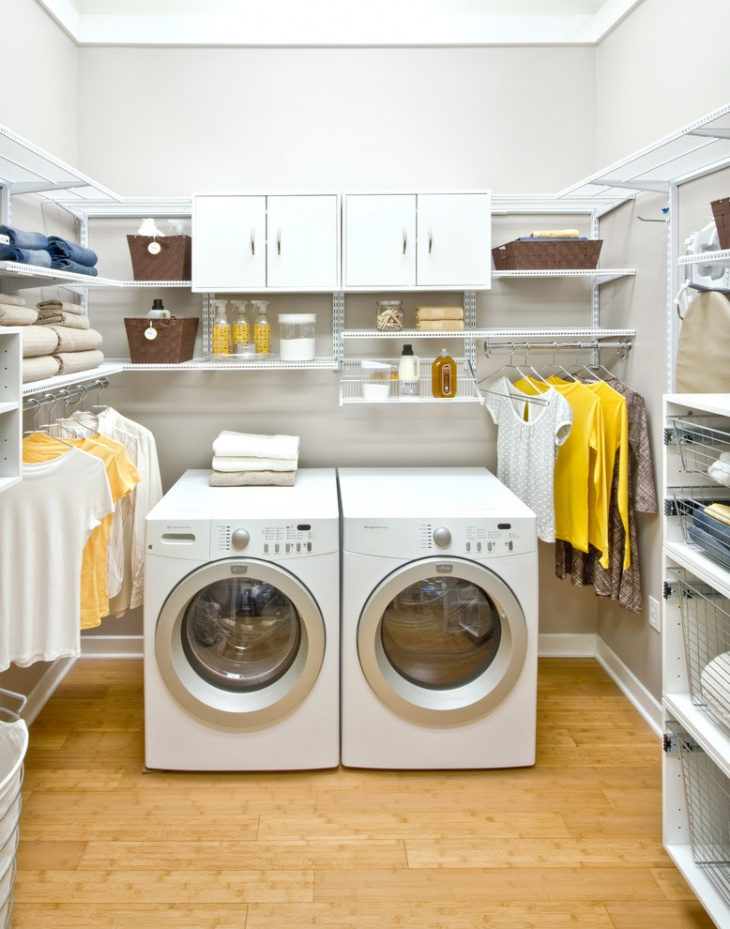 Wire Shelving Laundry Room