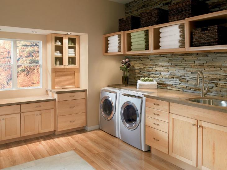 corner laundry room shelves