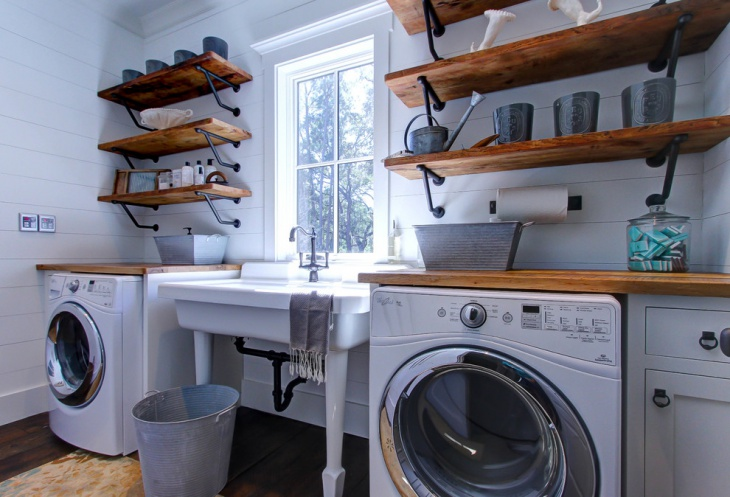 16 laundry room shelving designs ideas design trends for Laundry room shelving