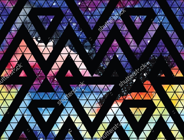 Galaxy Triangle Pattern Design