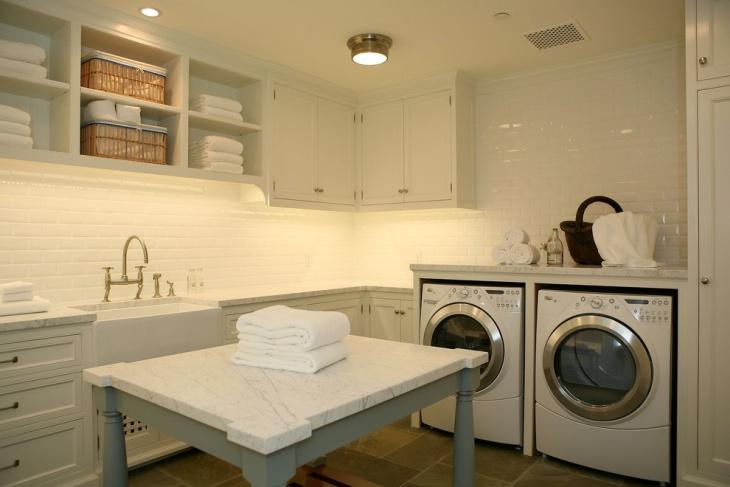 laundry room design shelving
