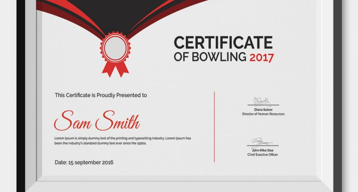 5 Bowling Certificates - PSD & Word Designs | Design ...