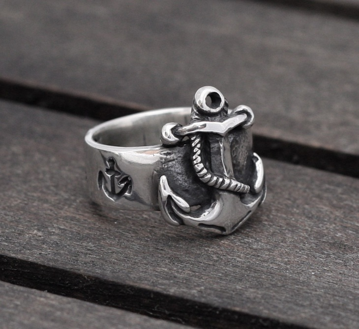 Sterling Silver Anchor Ring Model
