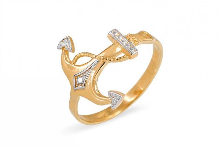 gold anchor ring idea