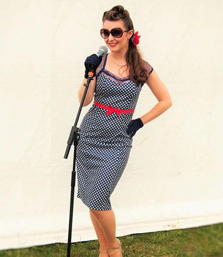 polka dot wiggle dress