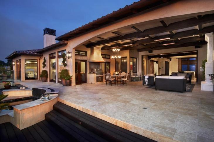 outdoor limestone patio flooring