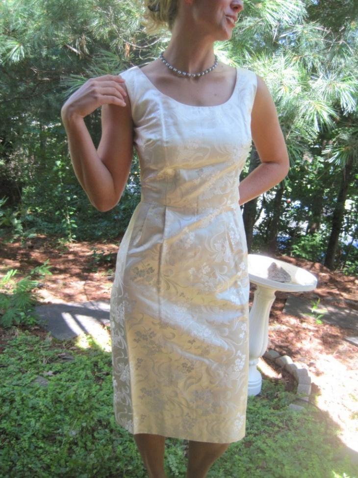 satin wiggle dress
