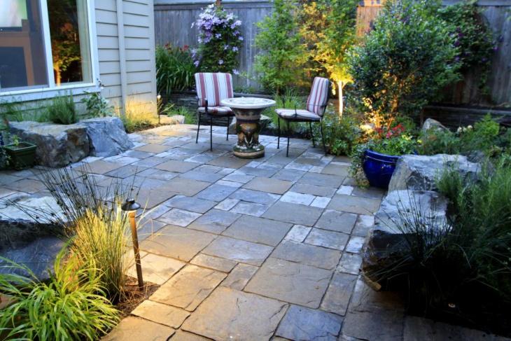 backyard patio flooring idea
