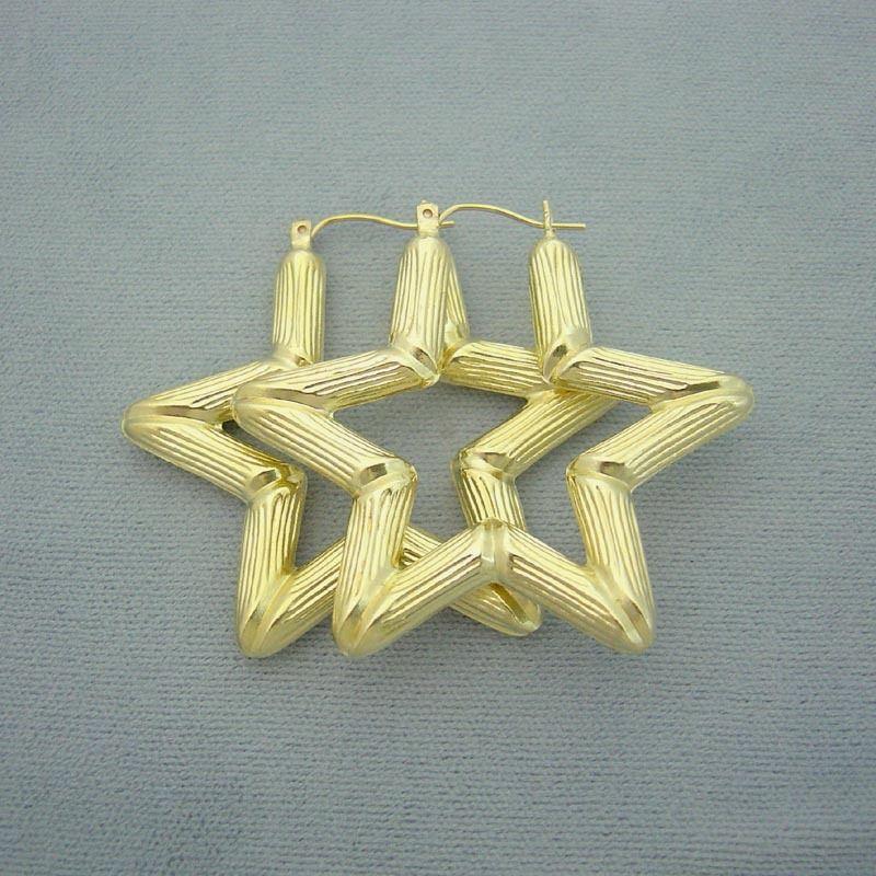 bamboo star earrings