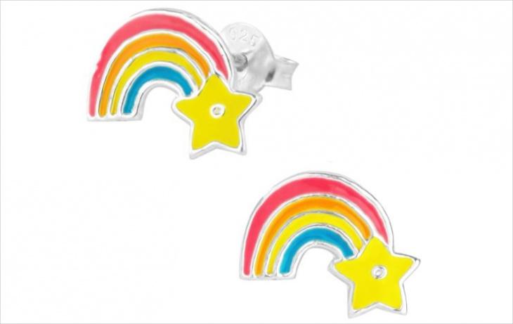 rainbow star earrings