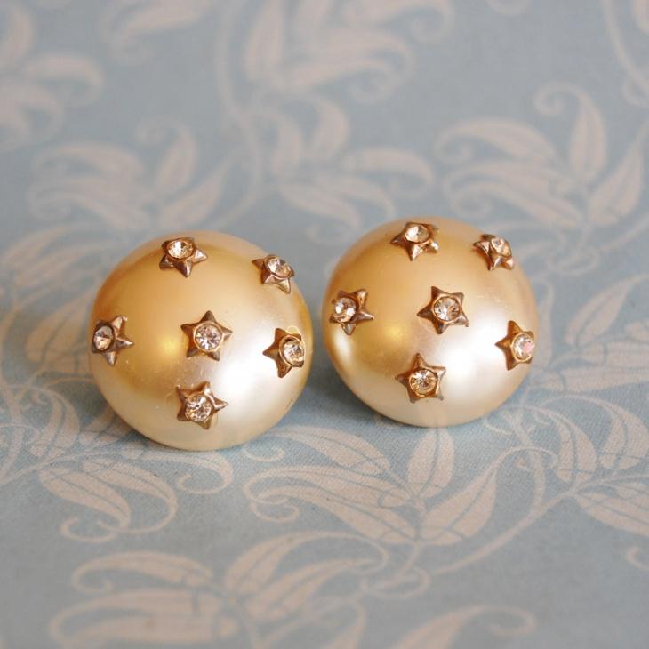 pearl star earrings idea