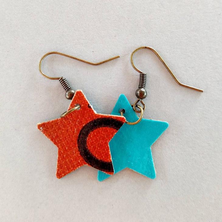 unique star earrings idea
