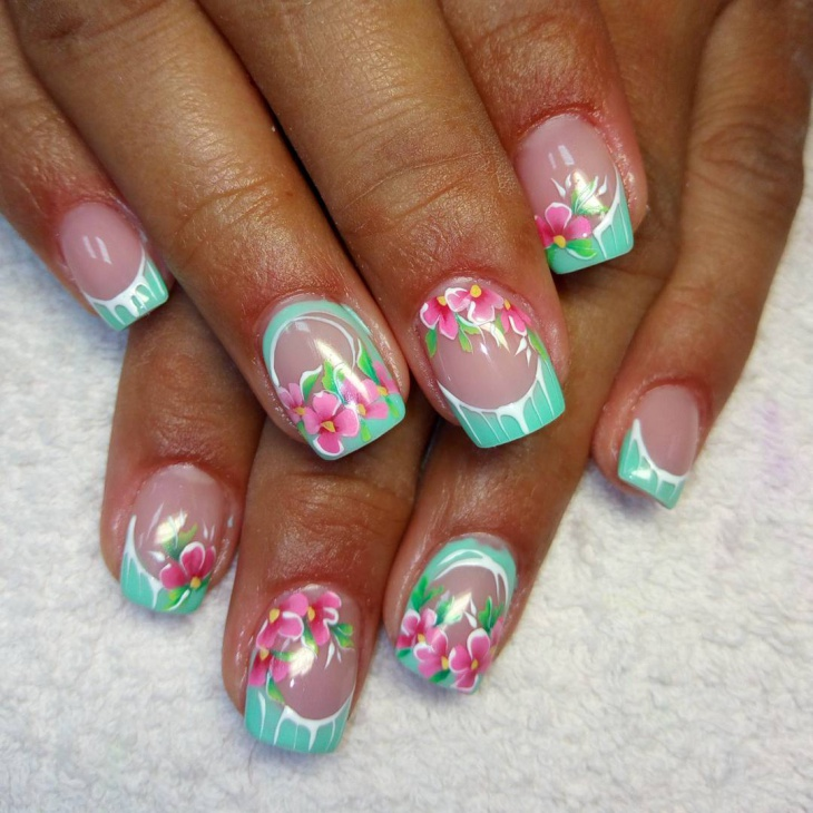 Floral Nail Art: 21+ Flower Nail Art Designs, Ideas