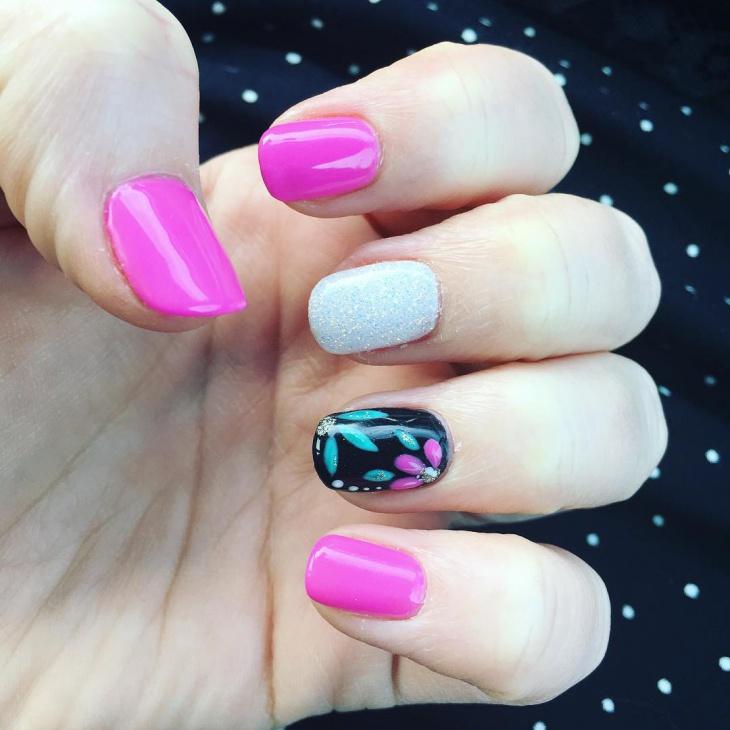 flower gel nail design