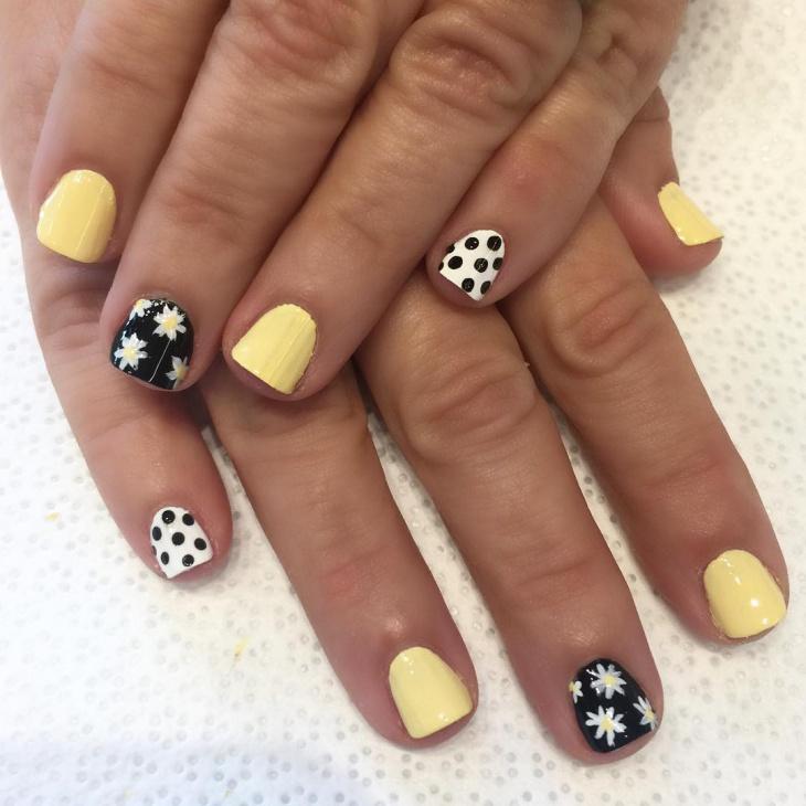 flower nail design for short nails