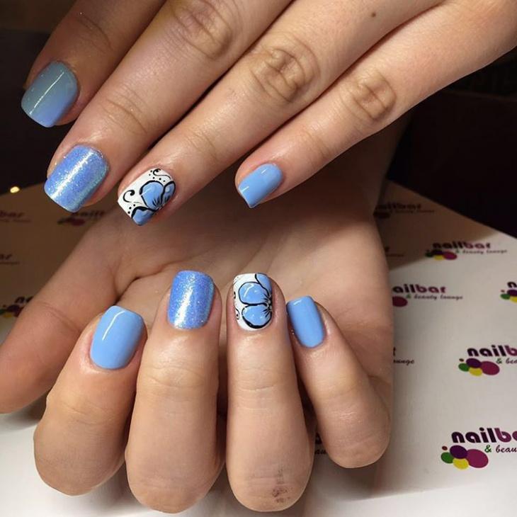 unique flower nail design