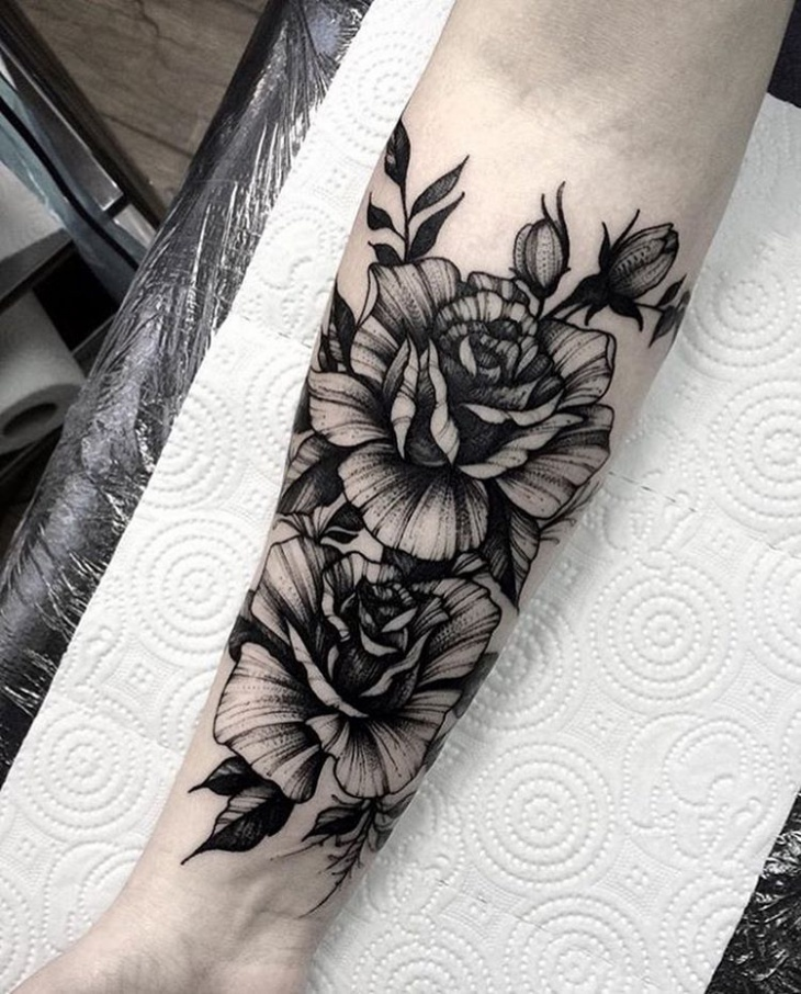 beautiful rose tattoo design