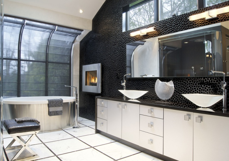 Black And White Modern Bathroom Design