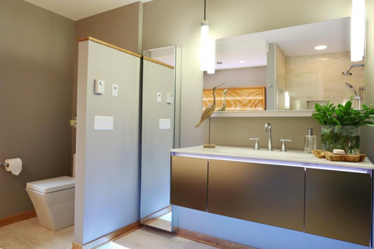 Modern Bathroom With Partition