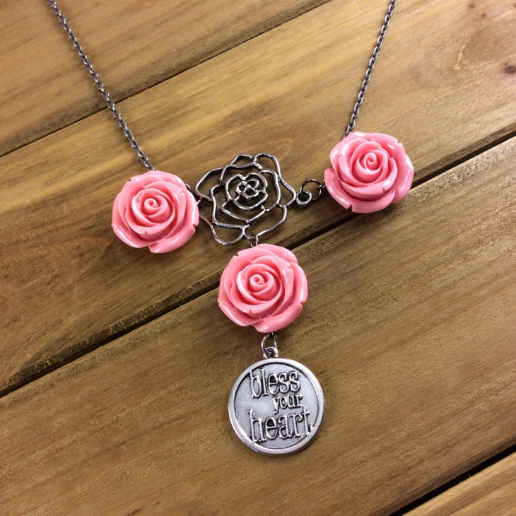 statement rose necklace