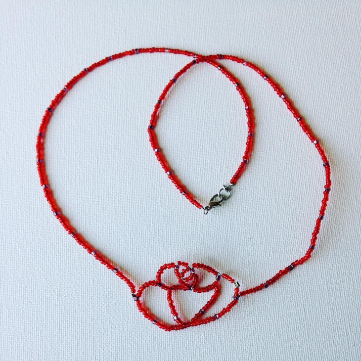 Red Rose Necklace Design