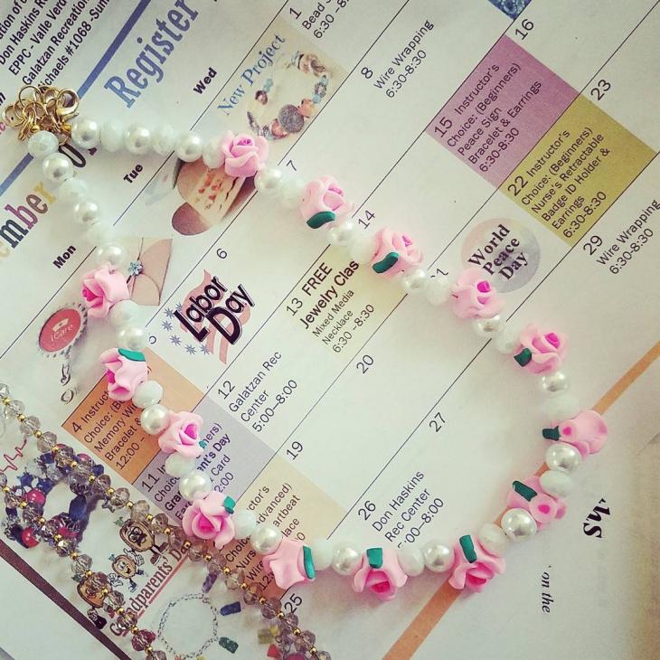 Cool Rose Necklace Design