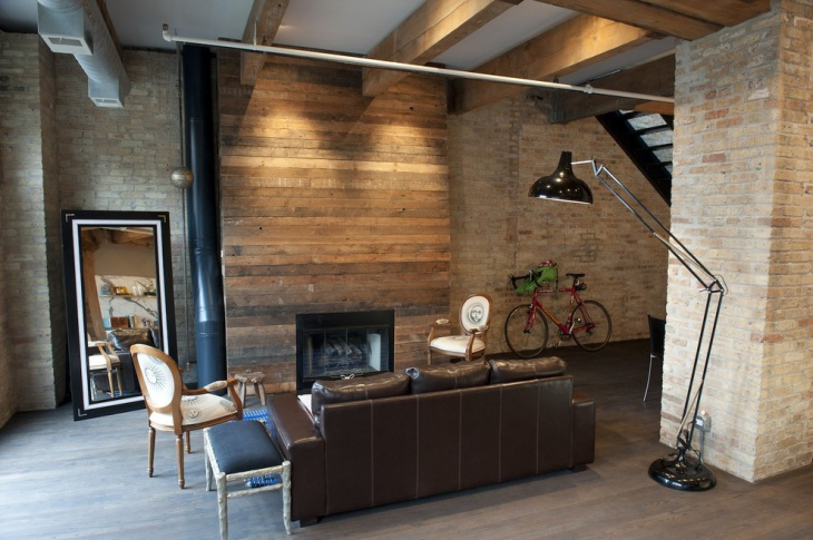 modern wood fireplace idea
