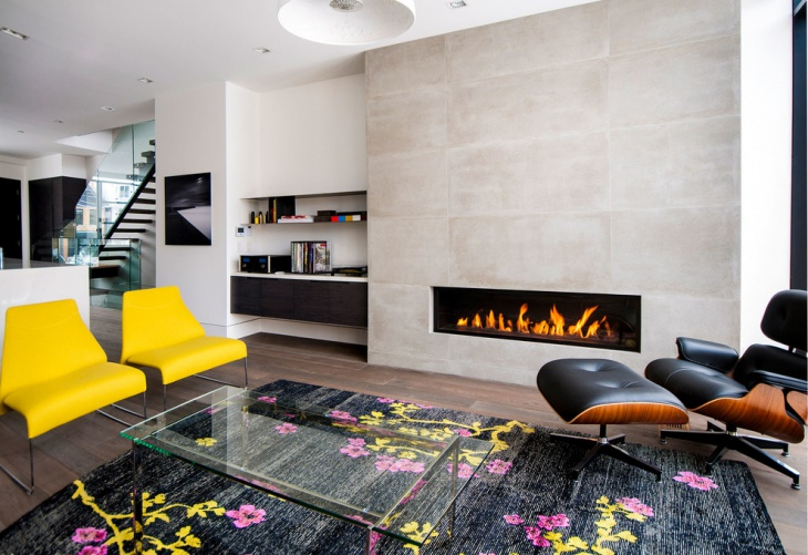 modern gas fireplace idea