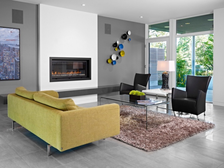 modern fireplace wall design