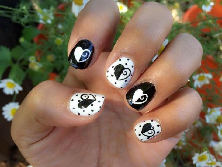 21+ Black and White Nail Art Designs, Ideas | Design ...