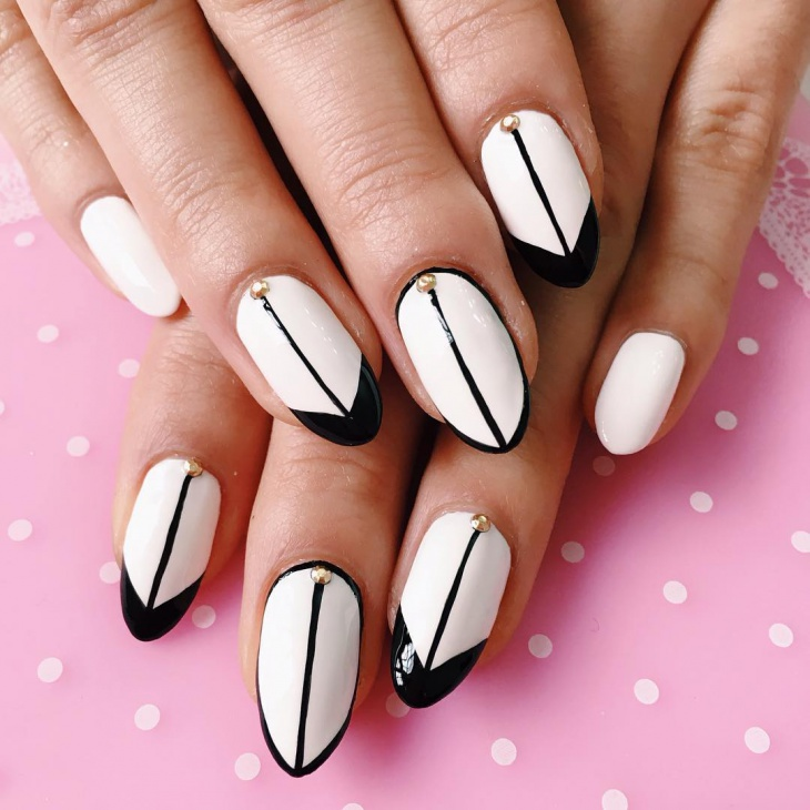 21 black and white nail art designs ideas design trends easy black and white nail design prinsesfo Choice Image