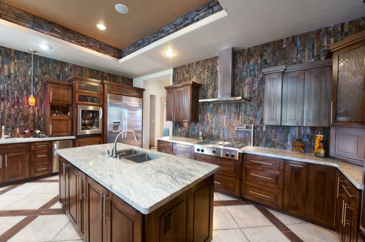 Stone Kitchen Wall Tile
