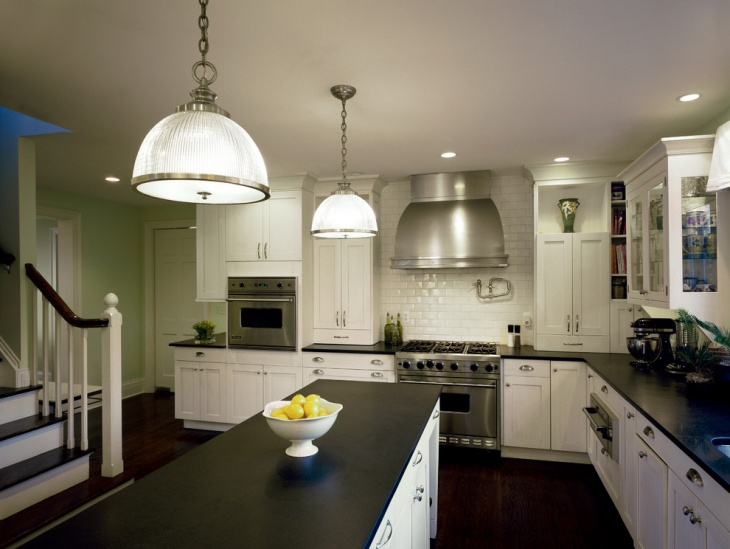 White Kitchen Wall Tile Design
