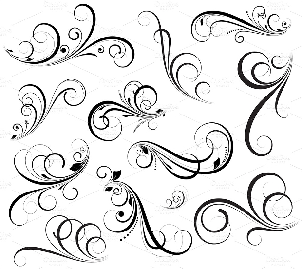 swirl vectors design