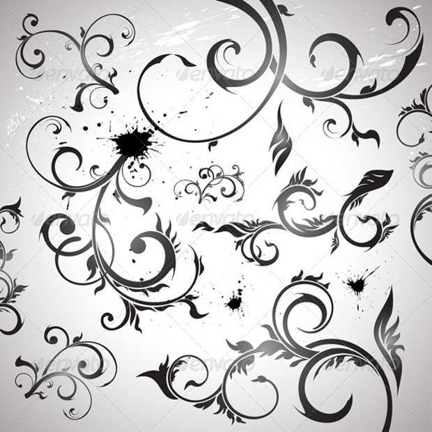 decorative swirl vector