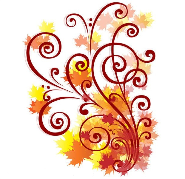 autumn swirl vector design