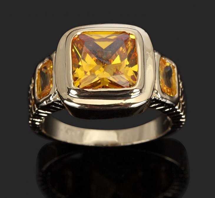 Mens Yellow Sapphire Ring Design