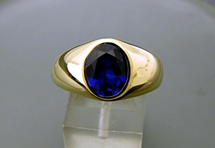 oval sapphire ring design for men