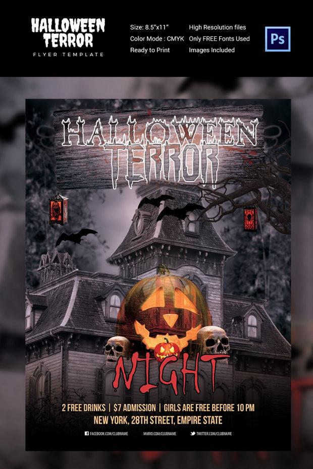 terror halloween flyer